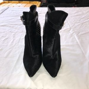 Womens black suede Burberry boots